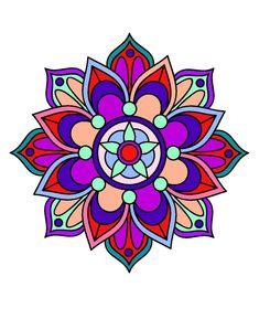 Diwali Rangoli Patterns Coloring Pages Mandala Artwork, Mandala Drawing, Mandala Painting, Stencil Painting, Free Mosaic Patterns, Rangoli Patterns, Paz Hippie, Hippie Art, Flower Mandala