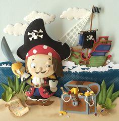 Cute Pirate Paper Sculpture by Karin Arruda on Behance