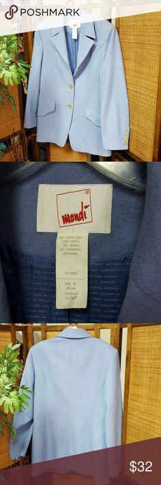 Mondi Periwinkle Blue Wool  Blazer Great condition. Wool, Amgora and Cashmere. Size 38 Tall Mondi Jackets & Coats Blazers