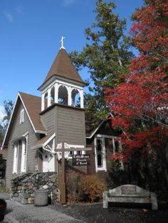 Charming Little Brown Church in Sunol, California (not far from Pleasanton where we used to live)