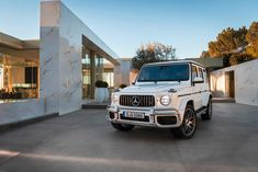 The Mercedes-Benz G-Wagen will go on sale later this year, with most buyers likely to choose the top-of-the-range AMG version, which is faster and more powerful on the open road. Mercedes Benz G Klasse, Mercedes G Wagen, New Mercedes Amg, G Class Amg, G63 Amg, Suv Cars, Maybach, G Wagon, Expensive Cars