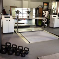 Synthetic ice treadmill at the Dallas Stars main training facility and ice rink center in Frisco, Texas.