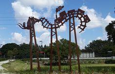 Jimmy Rix | visualartist.info Utility Pole, Arch, Public, Outdoor Structures, Sculpture, Garden, Artist, Longbow, Garten