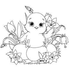 Pulcino Disegno Per Bambini Da Colorare Appliquet Pinterest