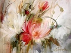 Watercolor Paintings Of Flowers | Two Flowers in Watercolor / Duas Flores em Aquarela, original painting ...