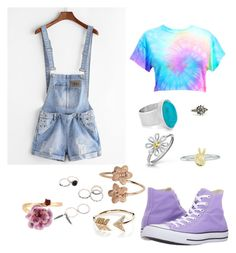 """""""Robin"""" by sparks-katie ❤ liked on Polyvore featuring Converse, Chico's, Bling Jewelry, Rock 'N Rose, EF Collection and Les Néréides"""