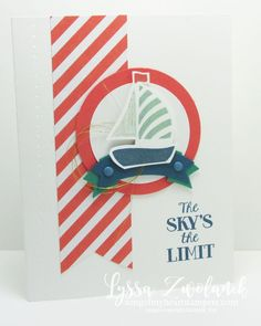 Sky is the limit swirly boat stampin up card