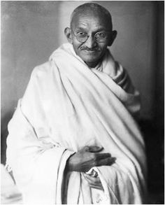 Mahatma Ghandi (Indian Philosopher, internationally esteemed for his doctrine of nonviolent protest, 1869-1948).