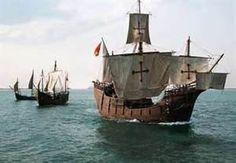 Replicas of the three ships of Christopher Columbus - the Santa Maria, Nina and Pinto.