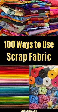 If you love sewing, then chances are you have a few fabric scraps left over. You aren't going to always have the perfect amount of fabric for a project, after all. If you've often wondered Scrap Fabric Projects, Diy Sewing Projects, Fabric Scraps, Sewing Crafts, Halloween Sewing Projects, Craft Projects, Fabric Remnants, Sewing Hacks, Sewing Ideas