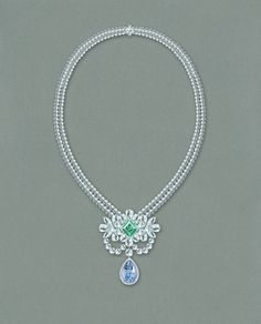 The final result of the +Graff Diamonds Le Collier Bleu de Reve 10.47ct Fancy…