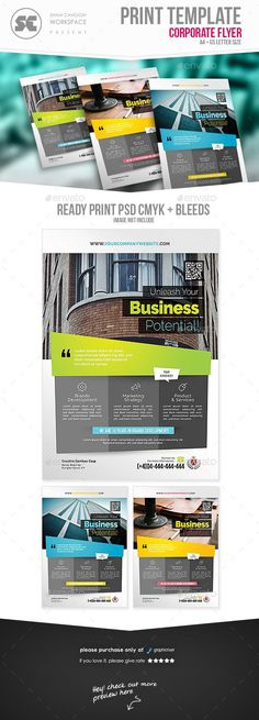 City Conference Flyer template, Business flyers and Business - conference flyer template