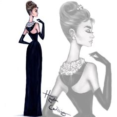 18 Ideen Modeskizzen Hayden Williams Audrey Hepburn What's Example? Most useful Illustration Types of Hayden Williams, Dibujos Tumblr A Color, Cristian Dior, Fashion Artwork, Fashion Design Sketches, Woman Drawing, Girl Fashion, Womens Fashion, Fashion Dresses
