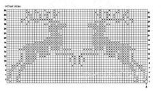 Схема вязания коричневый свитер с оленями раздел спицами вязаные кофты спицами со схемами