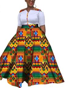 African Colorful Wedding Ankle-Length Dress Item Type: Africa Clothing Material: COTTON Gender: Women Occasion: Party,Date,Wedding,Casual African Dresses For Kids, African Maxi Dresses, Latest African Fashion Dresses, African Print Fashion, African Attire, Africa Fashion, African Print Dress Designs, Maxi Dress Wedding, Ideias Fashion