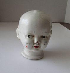 Vintage Composition Doll Head Compo Trion Toy Co. Vintage Oddities, Creepy Dolls, Doll Head, Composition, Sculpture, Statue, Toys, Cute, Activity Toys