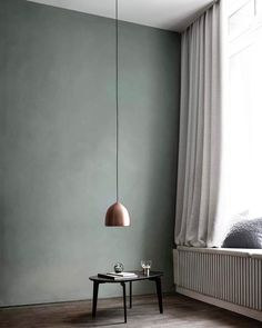 Calming Dusty Color Variations for Your Home Interior - Skrental Green Wall Color, Wall Colors, Office Interior Design, Office Interiors, Dining Lighting, Office Lighting, Built In Seating, Inspiration Wall, Simple House