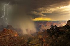 Grand Canyon bei Gewitter Photo & image by Lehmann Fabian ᐅ View and rate this photo free at fotocommunity. Discover more images here. Grand Canyon, More Images, Cool Landscapes, Northern Lights, Display, Mountains, Sunset, Nature, Travel