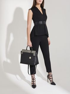 Charge to success and set your own pace with the sassy versatile Pace Setter. Working Woman, Innovation Design, Workwear, Sassy, Peplum Dress, Lion, Success, Handbags, Leather