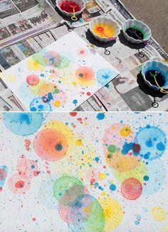 paint scrape notecards diy art project idea art for kids and