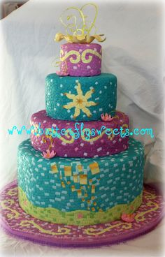 Rapunzel Cake / Tangled Cake / Mosaic Cake by Butterfly Sweets
