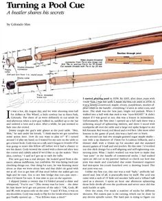 Learn How To Make A Pool Cue With This Truly Meticulous