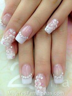 Resultado de imagen para uñas de acrilico elegantes con piedras #unasesculpidas