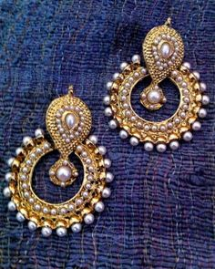 Pearl traditional ethnic indian traditional bollywood  jewelry earring b332 #Jewelry #Fashion #Cultural