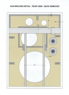 4345 Enclosure Plans Diy Speakers, New Drivers, Box Design, Rear View, Coding, How To Plan, Frame, Loudspeaker, Audio