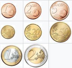 Billet En Euros, Frozen Paper Dolls, Rare British Coins, Euro Coins, Coin Art, Baby Learning, Dramatic Play, Coin Collecting, Grande