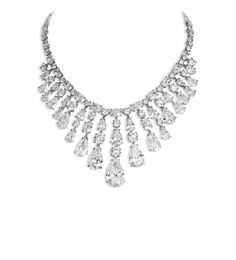 Important diamond necklace comprising pear, oval & round brilliant-cut diamonds Total weight 102.81cts