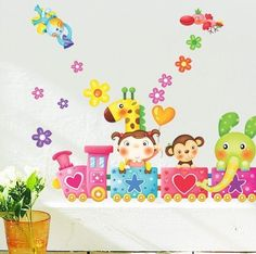 Wall Stickers for Kids Stick Wall Decals Wall Decals Decoration Wall Sticker Decal - ZOO Train by bigbvg, http://www.amazon.com/dp/B0088I8AIU/ref=cm_sw_r_pi_dp_jig0pb08ZXHTY
