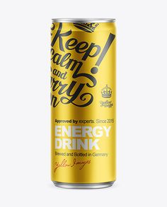 250ml Energy Drink Can Mockup. Preview