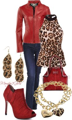 """Red Anytime, Red Anywhere!"" by momfor2girls on Polyvore"