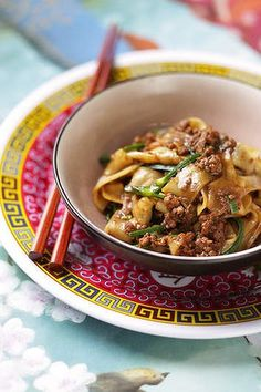 Szechuan spicy pork. Brigitte Hafner Victoria St, Asian recipes for Epicure. Photographed by Marina Oliphant. Styling by Caroline Velik: all props stylist's own. Imaging, please do not sharpen in any way. Many thanks. mko070120.002.005