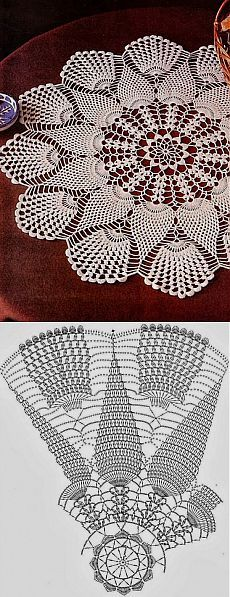 crocheted doily rodada