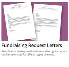 Get our free customizable templates to request  donations.
