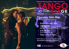 Spectacular TANGO Night at the +Battersea Barge TOMORROW Thursday May 26th! Join us for +Battersea Spanish & +Rojo y Negro Professional Tango School's night for all ‪#‎tango‬-lovers. More info at http://www.batterseabarge.com/bbevents/events/tango-nights-live-music-dance-taster-lesson-4/.
