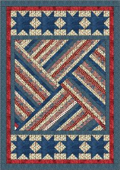 Quilt Jubilee by Lisa Sutherland - Patriotic Quilts Flag Quilt, Patriotic Quilts, Star Quilts, Quilt Blocks, Patriotic Flags, Patriotic Crafts, July Crafts, Jellyroll Quilts, Scrappy Quilts