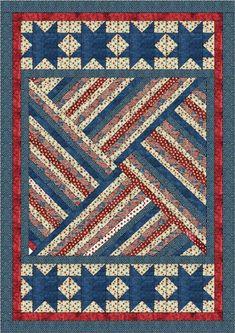 Quilt Jubilee by Lisa Sutherland - Patriotic Quilts Flag Quilt, Patriotic Quilts, Star Quilts, Quilt Blocks, Patriotic Flags, Patriotic Crafts, July Crafts, Strip Quilt Patterns, Jelly Roll Quilt Patterns