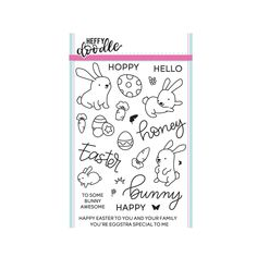 Happy Easter Rubber Stamp C1376 Holiday Words Impression Obsession cling stamps