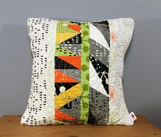 Comma Leftovers Pillow by knottygnome, via Flickr