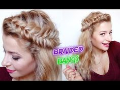 HAIRSTYLE WITH BRAIDS DUTCH FISHTAIL BRAIDED BANGS | Awesome Hairstyles