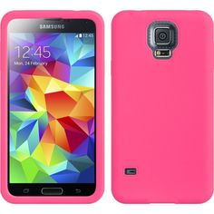 DW Premium Silicone Skin Case for Galaxy S5 - Hot Pink