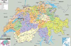 Mappa della Svizzera - Cartina della Svizzera