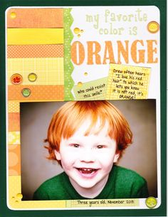 My Favorite Color is ORANGE by nylene @Two Peas in a Bucket