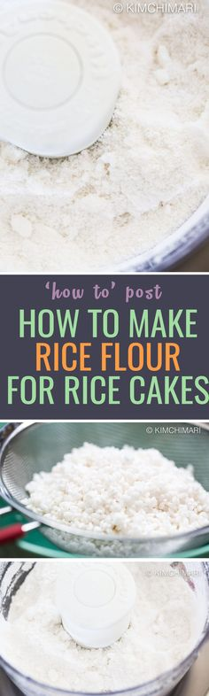 Ever wondered how rice flours are made? Here is a recipe, also available in video! https://kimchimari.com/songpyeon-korean-pine-rice-cakes-video/