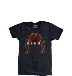 a13d1805 Miami University - Vintage Football Helmet - Men's T-Shirt - Heather Black
