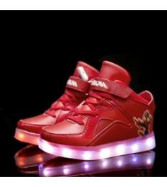 229380712 Red Kids Light Up Shoes With Usb Charging Kids Lighting