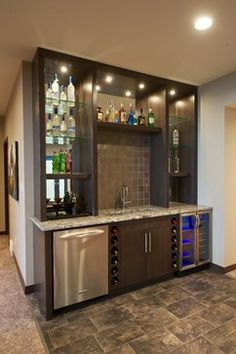 Basement Bar Shelving Design Ideas, Pictures, Remodel and Decor